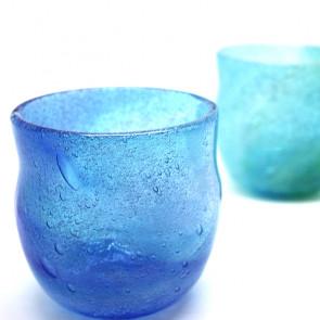 海の色のロックグラス