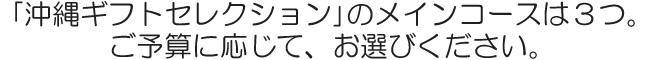 沖縄カタログギフト「沖縄ギフトセレクション」のメインコースは3つ|琉球ガラス村の公式オンラインショップ