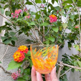 水中花シリーズのオレンジをチョイスしてみました😊 今日の沖縄は太陽が出てて暖かく、心地よい風が吹いてます☀️